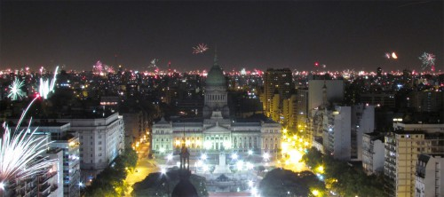 New Years Eve from the Top of the Palacio Barolo